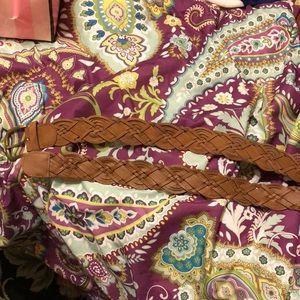 Torrid brown braided belt